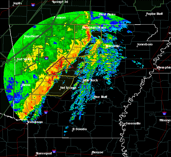 Radar Image for Severe Thunderstorms near Guion, AR at 1/10/2020 10:23 PM CST