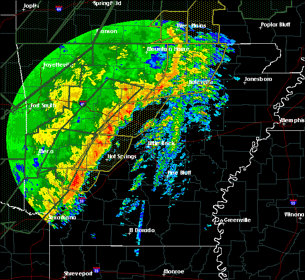 Radar Image for Severe Thunderstorms near Little Rock, AR at 1/10/2020 10:47 PM CST