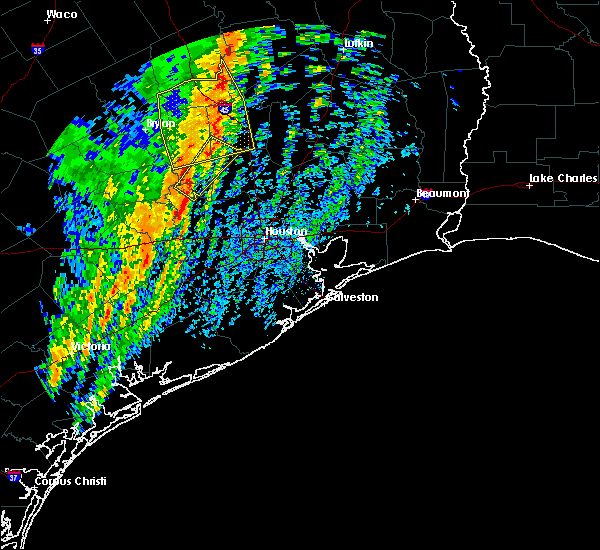 Radar Image for Severe Thunderstorms near Montgomery, TX at 1/10/2020 10:50 PM CST