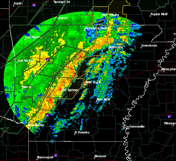 Radar Image for Severe Thunderstorms near Clinton, AR at 1/10/2020 10:58 PM CST