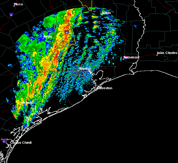 Radar Image for Severe Thunderstorms near The Woodlands, TX at 1/10/2020 10:58 PM CST