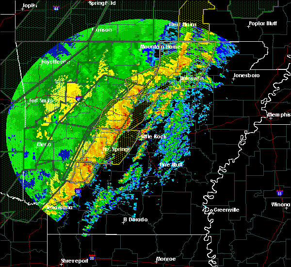 Radar Image for Severe Thunderstorms near Clinton, AR at 1/10/2020 11:08 PM CST
