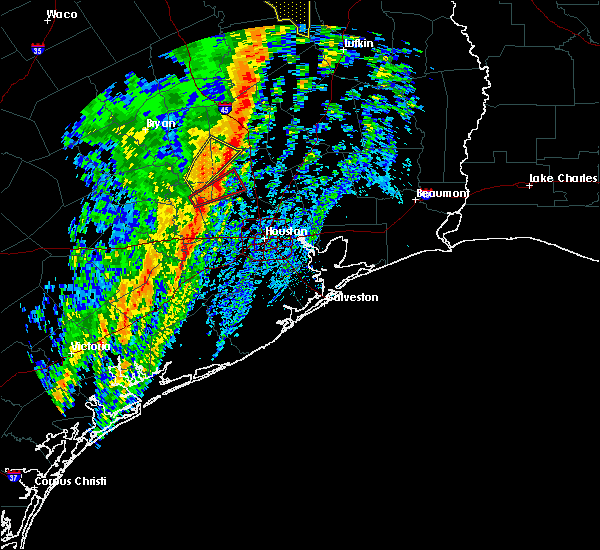 Radar Image for Severe Thunderstorms near The Woodlands, TX at 1/10/2020 11:15 PM CST