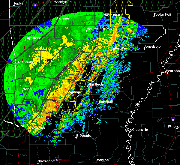 Radar Image for Severe Thunderstorms near Little Rock, AR at 1/10/2020 11:17 PM CST