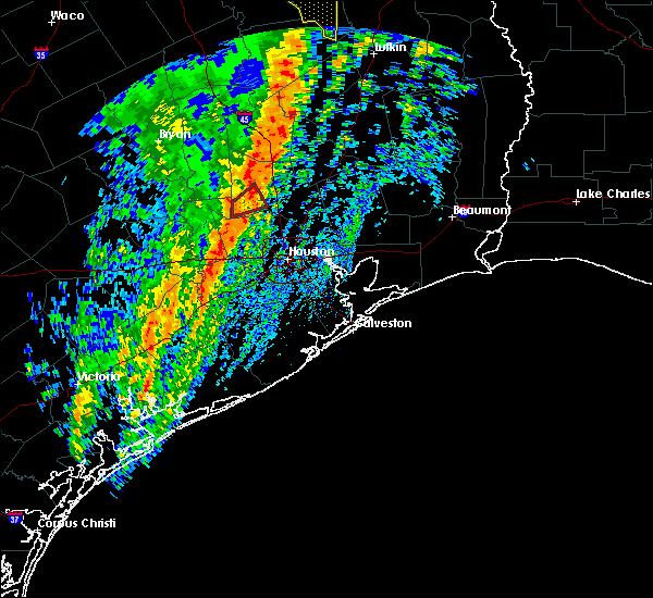Radar Image for Severe Thunderstorms near Oakhurst, TX at 1/10/2020 11:25 PM CST