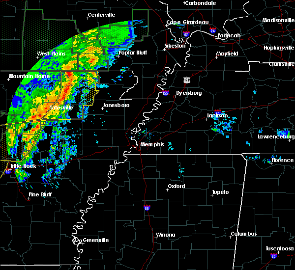 Radar Image for Severe Thunderstorms near College City, AR at 1/10/2020 11:33 PM CST