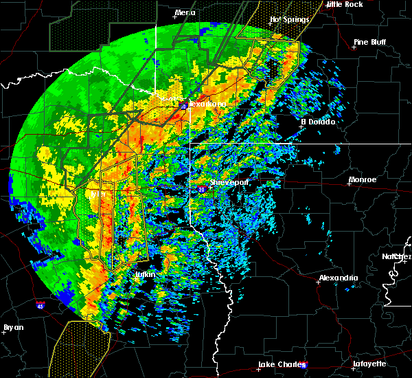 Radar Image for Severe Thunderstorms near Tyler, TX at 1/10/2020 11:39 PM CST