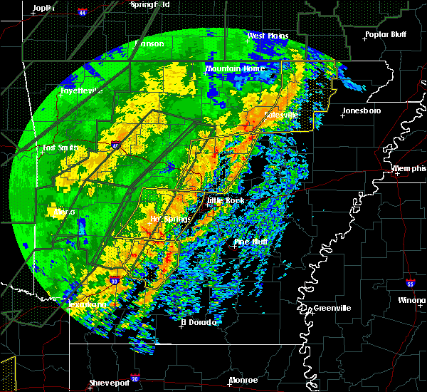 Radar Image for Severe Thunderstorms near Little Rock, AR at 1/10/2020 11:40 PM CST