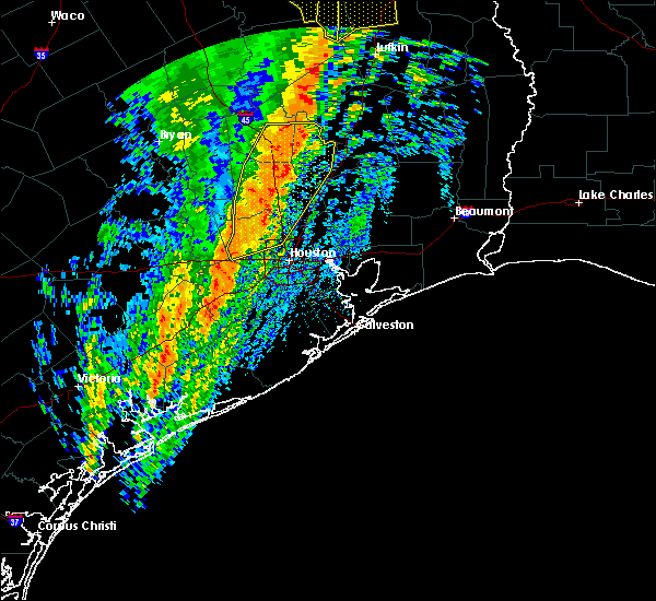 Radar Image for Severe Thunderstorms near Oakhurst, TX at 1/10/2020 11:41 PM CST