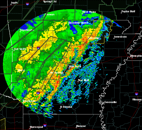 Radar Image for Severe Thunderstorms near McAlmont, AR at 1/10/2020 11:47 PM CST
