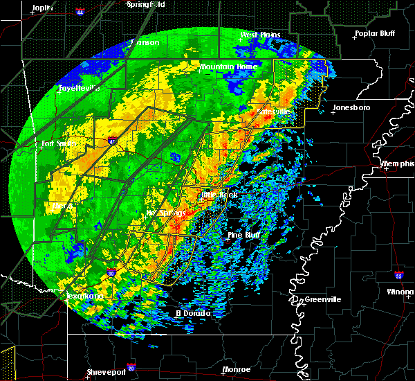 Radar Image for Severe Thunderstorms near Sparkman, AR at 1/10/2020 11:54 PM CST