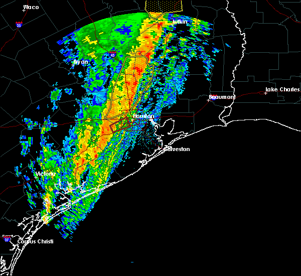 Radar Image for Severe Thunderstorms near Roman Forest, TX at 1/10/2020 11:55 PM CST