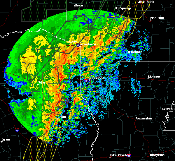 Radar Image for Severe Thunderstorms near Pine Harbor, TX at 1/11/2020 12:00 AM CST