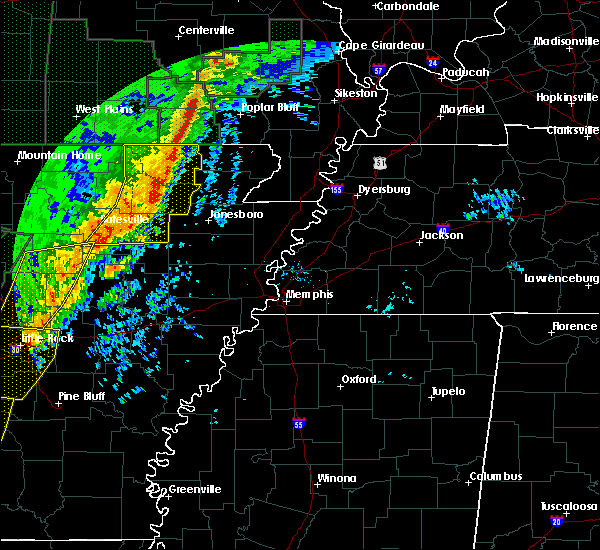 Radar Image for Severe Thunderstorms near Delaplaine, AR at 1/11/2020 12:03 AM CST