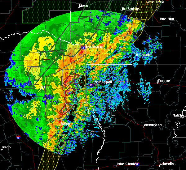 Radar Image for Severe Thunderstorms near Tatum, TX at 1/11/2020 12:12 AM CST