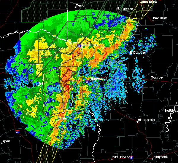 Radar Image for Severe Thunderstorms near Waskom, TX at 1/11/2020 12:24 AM CST