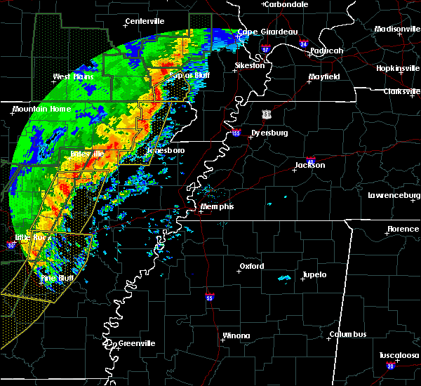 Radar Image for Severe Thunderstorms near Monette, AR at 1/11/2020 12:50 AM CST