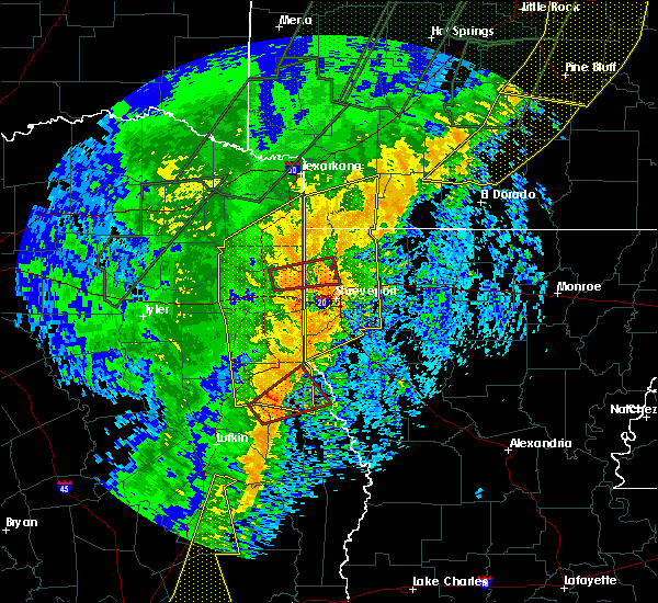 Radar Image for Severe Thunderstorms near Mooringsport, LA at 1/11/2020 12:54 AM CST