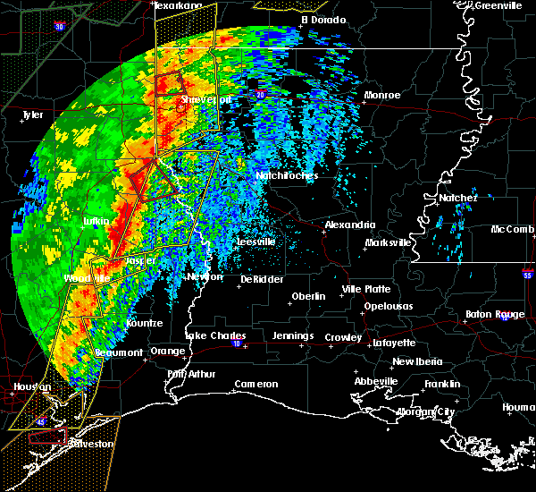 Radar Image for Severe Thunderstorms near Broaddus, TX at 1/11/2020 1:03 AM CST
