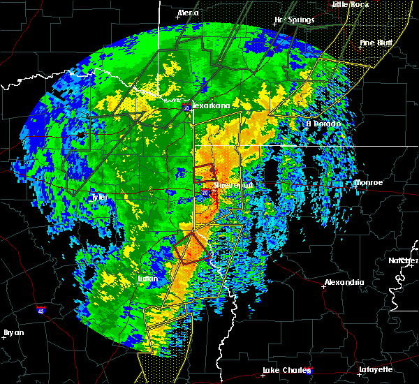 Radar Image for Severe Thunderstorms near Gilliam, LA at 1/11/2020 1:14 AM CST