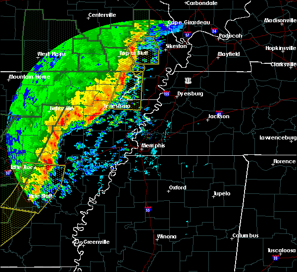 Radar Image for Severe Thunderstorms near Monette, AR at 1/11/2020 1:18 AM CST