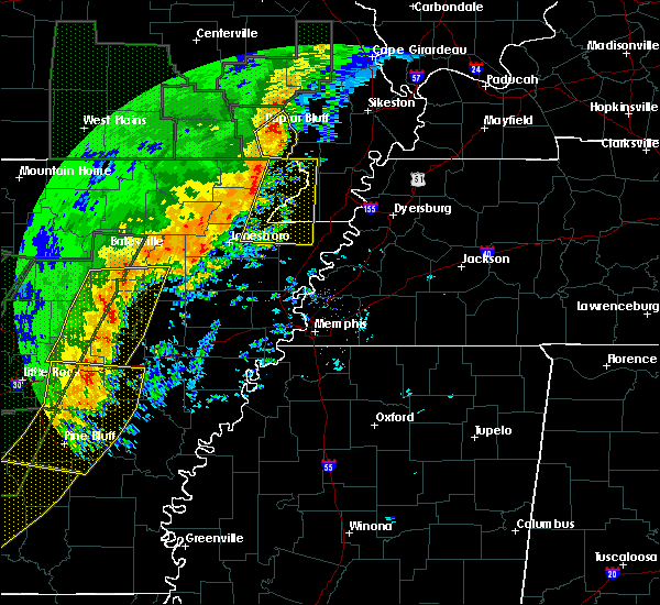 Radar Image for Severe Thunderstorms near St. Francis, AR at 1/11/2020 1:17 AM CST