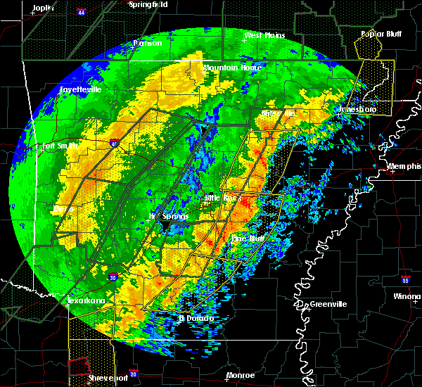Radar Image for Severe Thunderstorms near Bradford, AR at 1/11/2020 1:20 AM CST