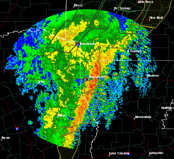 Radar Image for Severe Thunderstorms near Doyline, LA at 1/11/2020 1:30 AM CST