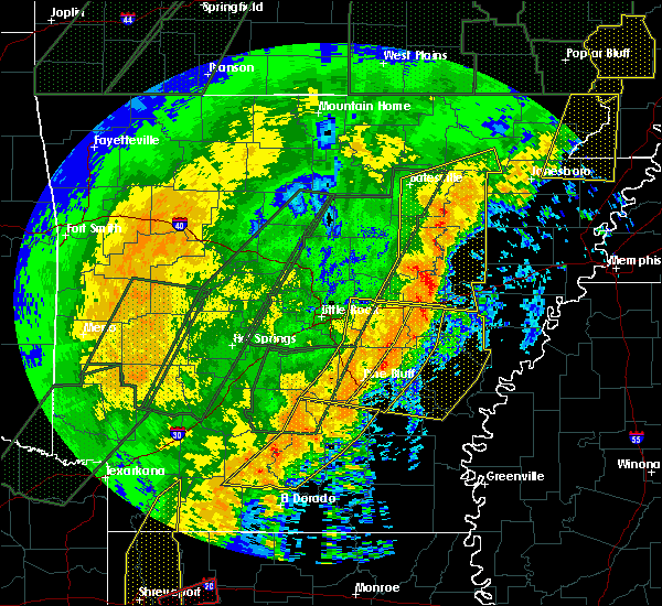 Radar Image for Severe Thunderstorms near Kingsland, AR at 1/11/2020 1:34 AM CST