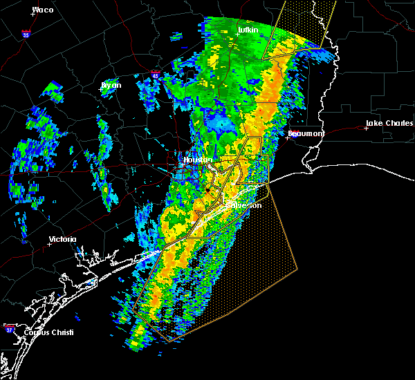 Radar Image for Severe Thunderstorms near Anahuac, TX at 1/11/2020 1:33 AM CST