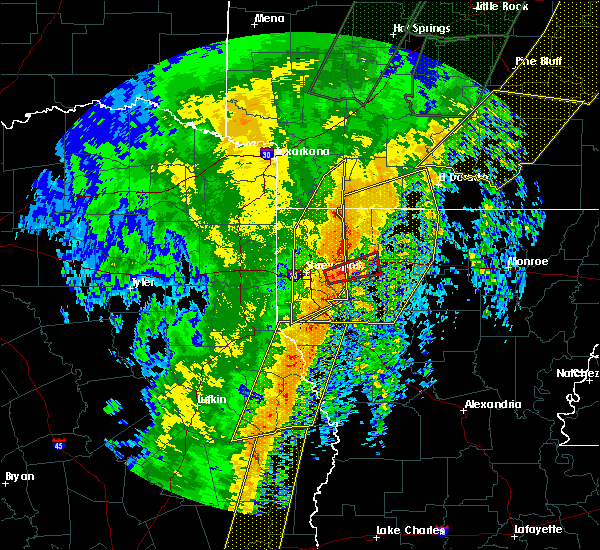 Radar Image for Severe Thunderstorms near Doyline, LA at 1/11/2020 1:39 AM CST