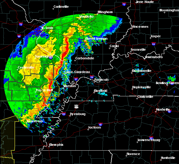 Radar Image for Severe Thunderstorms near Essex, MO at 1/11/2020 1:39 AM CST