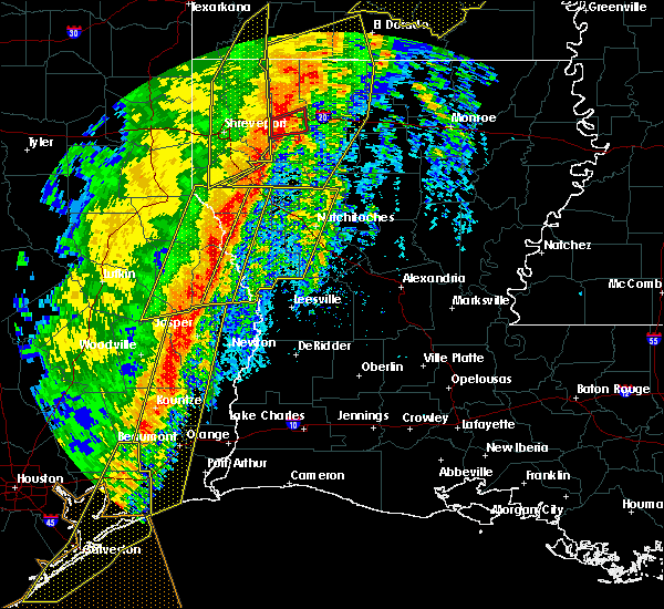 Radar Image for Severe Thunderstorms near Provencal, LA at 1/11/2020 1:42 AM CST