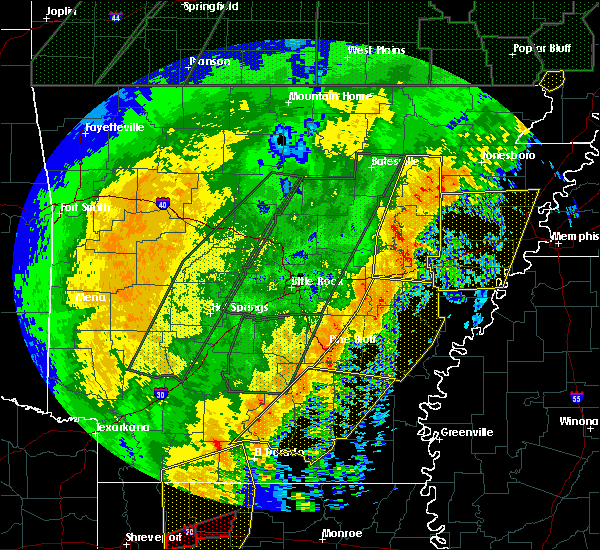Radar Image for Severe Thunderstorms near Bradford, AR at 1/11/2020 1:52 AM CST