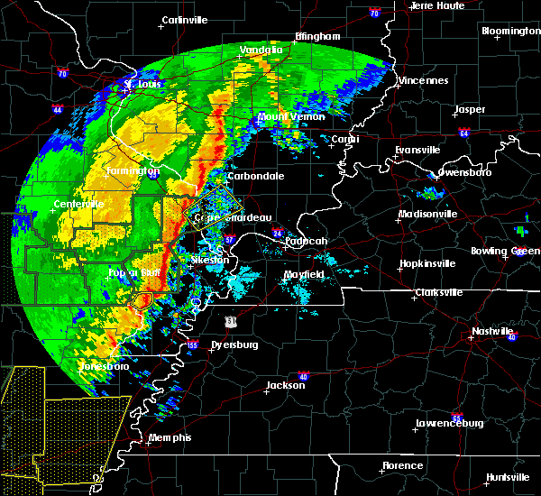 Radar Image for Severe Thunderstorms near Anna, IL at 1/11/2020 1:54 AM CST