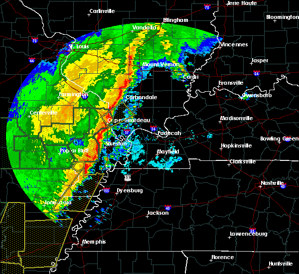 Radar Image for Severe Thunderstorms near Anna, IL at 1/11/2020 2:07 AM CST