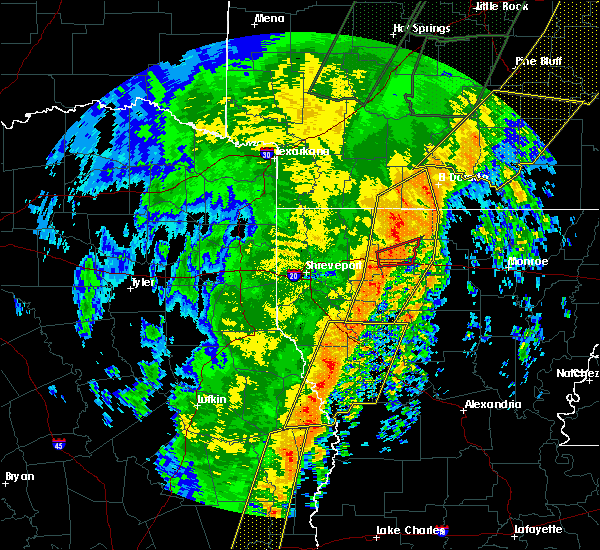 Radar Image for Severe Thunderstorms near Saline, LA at 1/11/2020 2:08 AM CST
