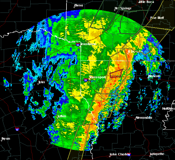 Radar Image for Severe Thunderstorms near Claiborne, LA at 1/11/2020 2:19 AM CST
