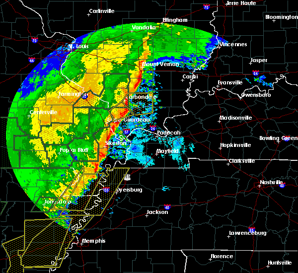 Radar Image for Severe Thunderstorms near Pascola, MO at 1/11/2020 2:29 AM CST