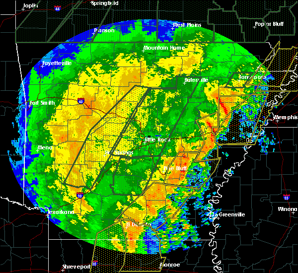Radar Image for Severe Thunderstorms near Watson, AR at 1/11/2020 2:31 AM CST