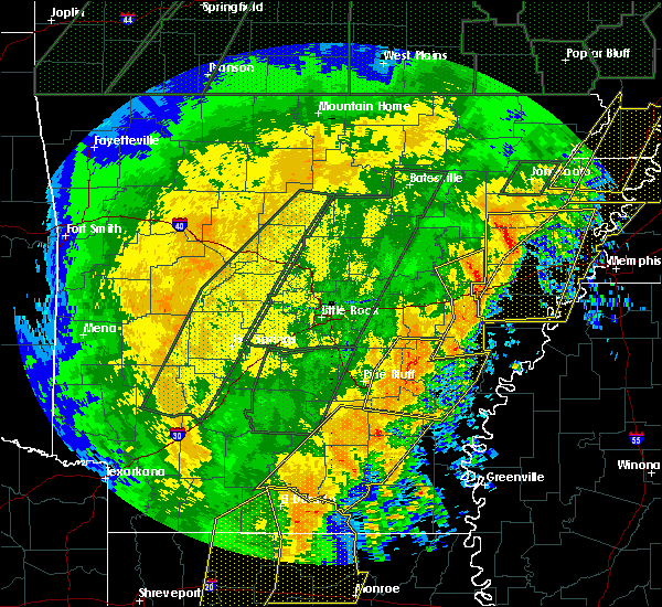 Radar Image for Severe Thunderstorms near Monticello, AR at 1/11/2020 2:34 AM CST