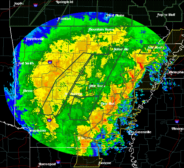 Radar Image for Severe Thunderstorms near Wilmot, AR at 1/11/2020 2:37 AM CST