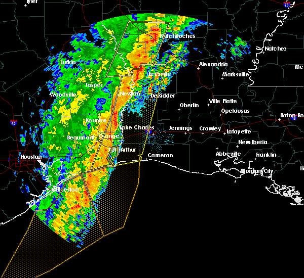 Radar Image for Severe Thunderstorms near Vidor, TX at 1/11/2020 2:43 AM CST