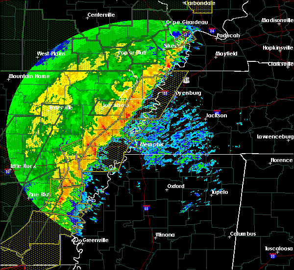 Radar Image for Severe Thunderstorms near Hughes, AR at 1/11/2020 2:53 AM CST