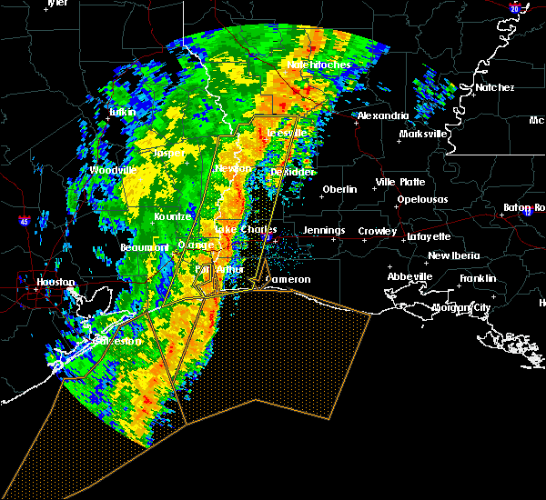 Radar Image for Severe Thunderstorms near DeRidder, LA at 1/11/2020 3:08 AM CST