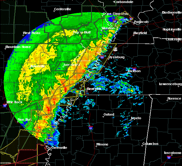 Radar Image for Severe Thunderstorms near Hughes, AR at 1/11/2020 3:09 AM CST