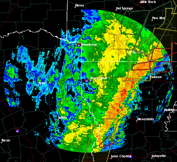 Radar Image for Severe Thunderstorms near Claiborne, LA at 1/11/2020 3:13 AM CST