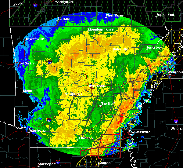 Radar Image for Severe Thunderstorms near Wilmot, AR at 1/11/2020 3:18 AM CST