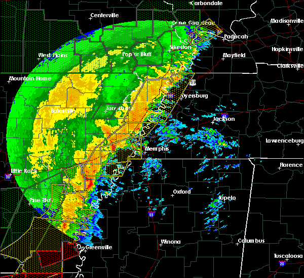 Radar Image for Severe Thunderstorms near Blytheville, AR at 1/11/2020 3:19 AM CST