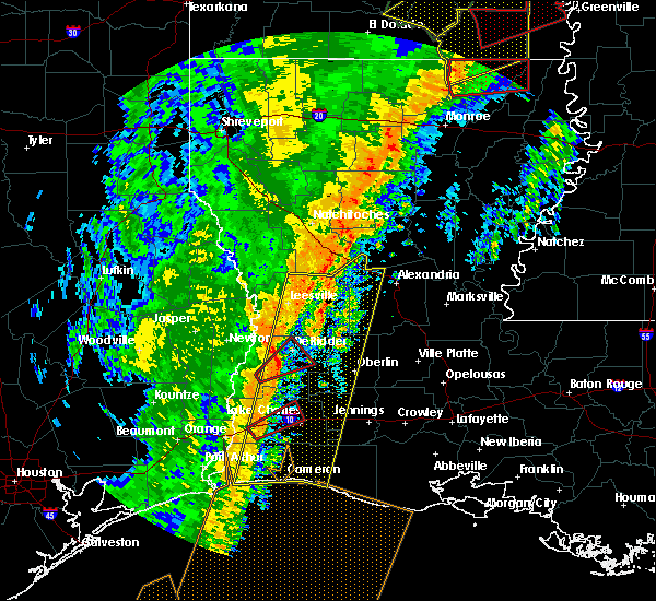 Radar Image for Severe Thunderstorms near DeRidder, LA at 1/11/2020 3:22 AM CST